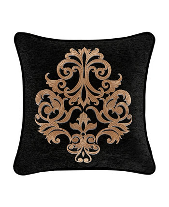 """Lauretta Square Embellished Decorative Throw Pillow, 18"""" L X 18"""" W J Queen New York"""