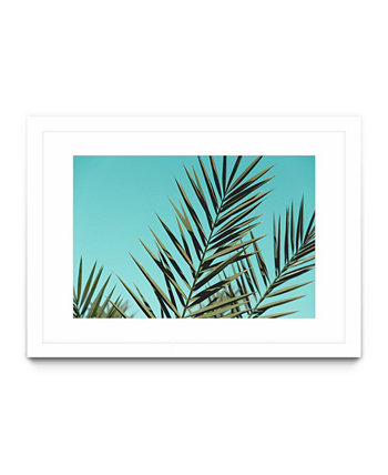 "Tropical Vibes Matted and Framed Art Print, 40"" x 30"" Giant Art"