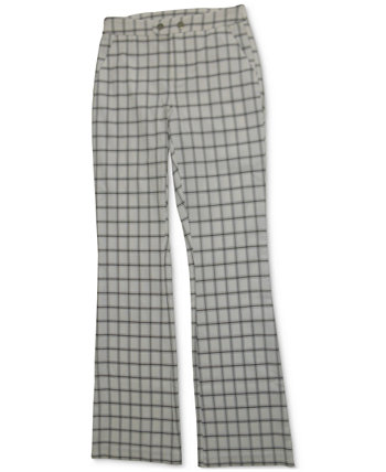 INC Windowpane Plaid Bootcut Pants, Created for Macy's INC International Concepts
