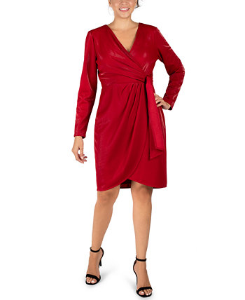 Scuba Faux-Wrap Sheath Dress Julia Jordan