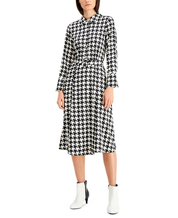 Houndstooth Button Down Midi Dress, Created for Macy's Alfani