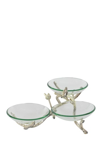 Glam Bird & Branches Glass Bowls Stand Willow Row