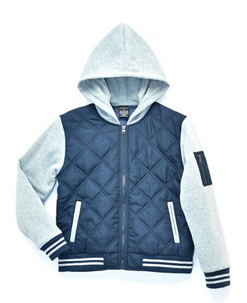 Big Boys Andy Varsity Twofer Quilted Zip Up Jacket, Made For Macy's Ring of Fire