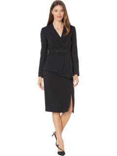 Belted Jacket w/ Pencil Skirt Set Tahari by ASL