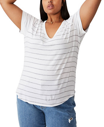 Trendy Plus Size Karly Short Sleeve Tee COTTON ON
