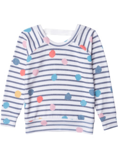 Love Knit Long Sleeve Scoop Back Pullover (Toddler/Little Kids) Chaser Kids