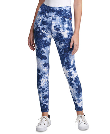 Printed High-Rise Tie-Dyed Leggings Tommy Hilfiger
