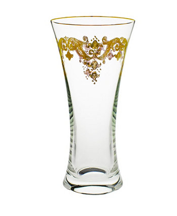 Centerpiece Vase with 24K Gold Artwork Classic Touch