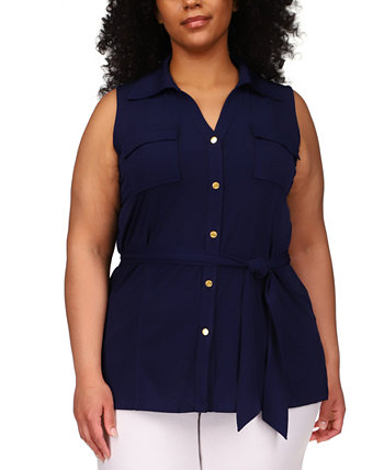 Plus Size Sleeveless Tunic Shirt Michael Kors