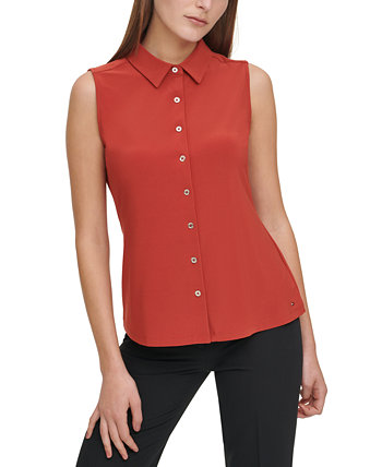 Sleeveless Button-Down Top Tommy Hilfiger