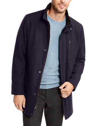 Men's Big & Tall Long Open Bottom Overcoat, Created for Macy's Calvin Klein