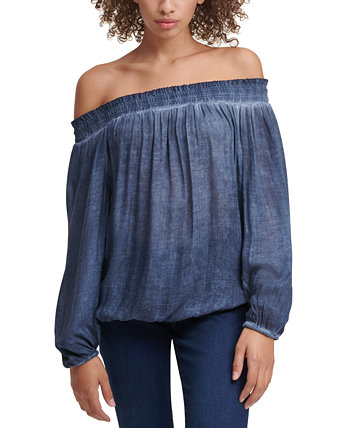 Cotton Off-The-Shoulder Peasant Top Tommy Hilfiger