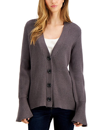 Bell-Sleeve Cardigan Fever