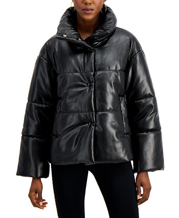 INC Faux-Leather Puffer Coat, Created for Macy's INC International Concepts