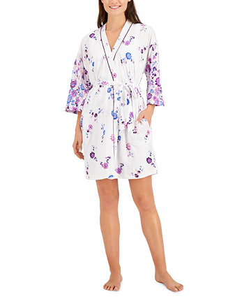 Printed Wrap Robe, Created for Macy's Charter Club