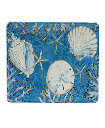 Playa Shells Rectangular Platter Certified International