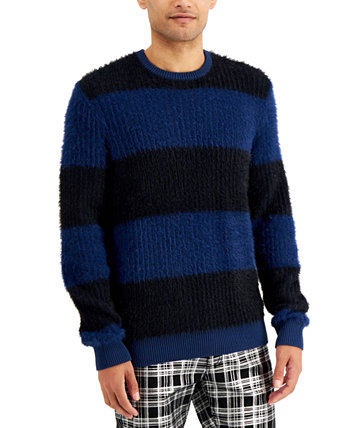 INC Men's Fuzzy Striped Sweater, Created for Macy's INC International Concepts