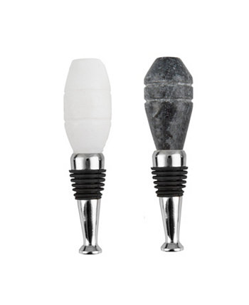 S/2 Marble Octagon Bottle Stoppers THIRSTYSTONE