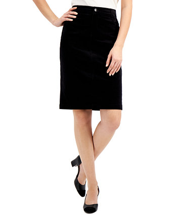 Velveteen Pencil Skirt, Created for Macy's Charter Club