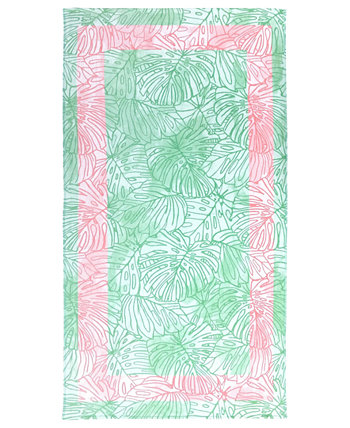 Tropical Monstera Velour Beach Towel, Created for Macy's Martha Stewart Collection