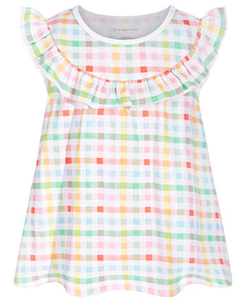 Baby Girls Multicolor Gingham Cotton Top, Created for Macy's First Impressions