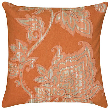 """18"""" x 18"""" Floral Down Filled Pillow Rizzy Home"""