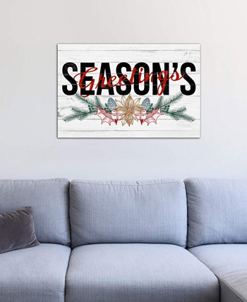 """Season's Greetings"" by 5by5collective Gallery-Wrapped Canvas Print (18 x 26 x 0.75) ICanvas"