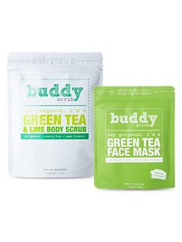 Green Tea Ultimate Self-Care Pack - Face Mask & Body Scrub Two-Piece Set Buddy Scrub