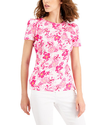 INC Cotton Puff-Sleeve T-Shirt, Created for Macy's INC International Concepts