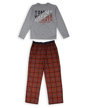 Big Boys Tommy Plaid Pajama Set Tommy Hilfiger