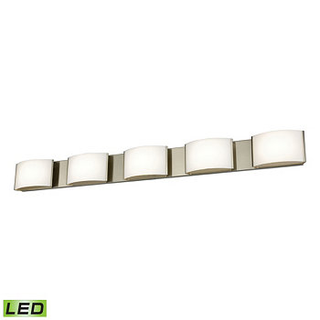 5 Light LED Vanity in Satin Nickel and Opal Glass ELK Lighting