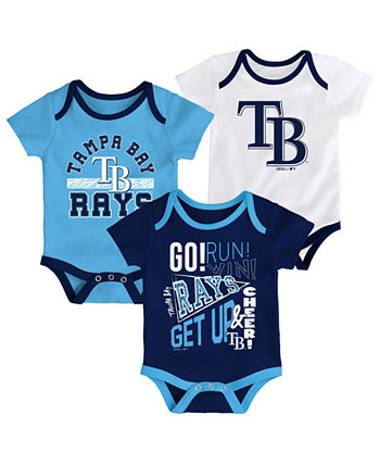 Baby Tampa Bay Rays Newest Rookie 3 Piece Bodysuit Set Outerstuff