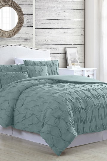 Modern Threads 5-Piece Textured Comforter Set - Harper Sea - King Modern Threads