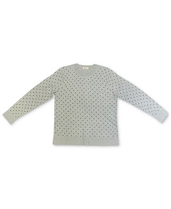 Dot-Print Pullover Sweater, Created for Macy's Style & Co