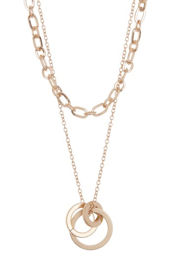 Link Drop Circles Chain Necklace AREA STARS