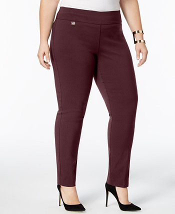 Plus & Petite Plus Size Tummy-Control Pull-On Skinny Pants, Created for Macy's Alfani