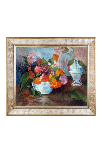 The Vase of Nasturtiums, 1886 by Paul Gauguin Framed Hand Painted Oil Reproduction No brands