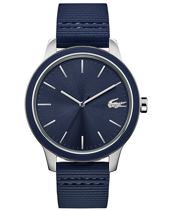 Men's Blue Silicone Strap Watch 44mm Lacoste