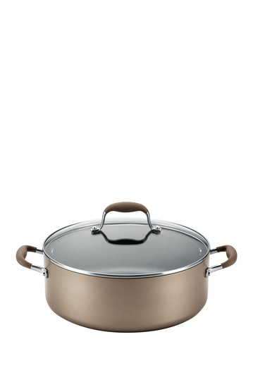 Advanced Umber 7.5 Qt. Covered Wide Stockpot Anolon
