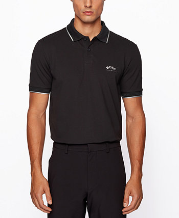 BOSS Men's Paul Curved Slim-Fit Polo Shirt BOSS Hugo Boss