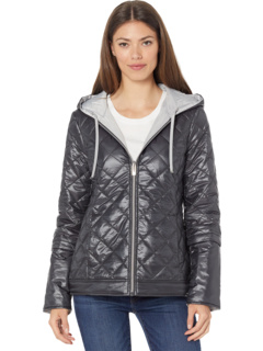 Reversible Packable Puffer Jacket with Diamond Stitch Via Spiga