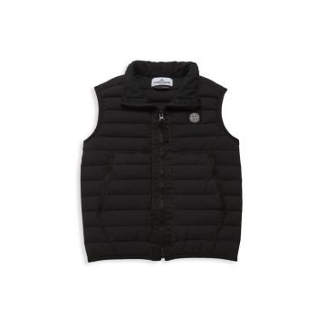 Boy's Real Down Puffer Vest Stone Island