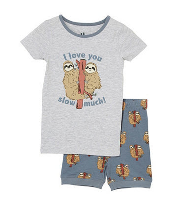 Little Boys Ted Short Sleeve Pajama Set COTTON ON