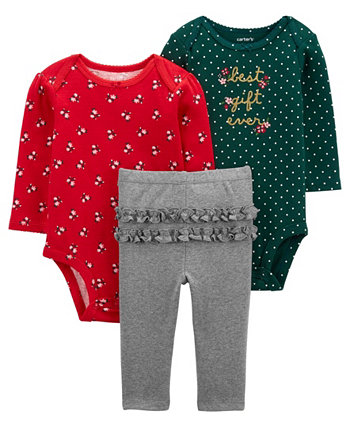 Carters Baby Girl 3-Piece Best Gift Ever Little Character Set Carters