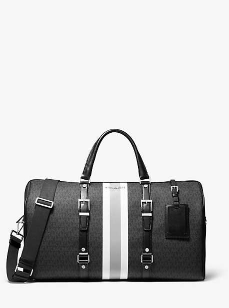 Большая сумка в полоску Weekender с логотипом Bedford Travel Michael Kors