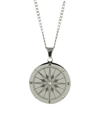 Men's Stainless Steel Compass Necklace Eve's Jewelry