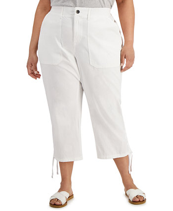 Plus Size Cropped Cargo Pants, Created for Macy's Style & Co