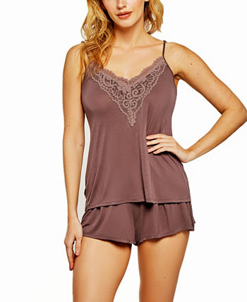 Women's Cami Short Set Trimmed in Lace ICollection