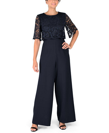 Lace-Overlay Jumpsuit Donna Ricco