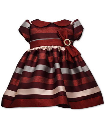 Baby Girls Jacquard Striped Dress Bonnie Baby